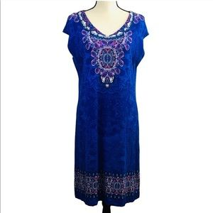 Chico's Royal Blue Shift Dress
